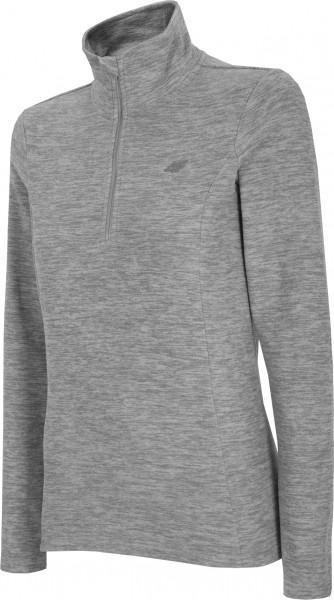 4F Damen Fleece Funktions Shirt Felice Cold Light Grey Melange