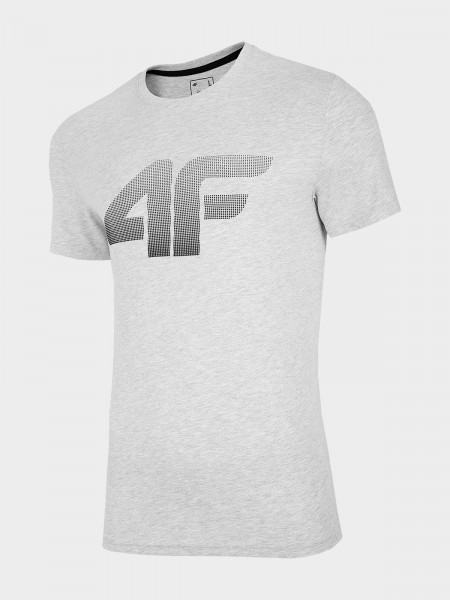 4F Herren T-Shirt Flemming Cold Light Grey Melange