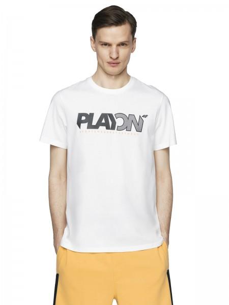 4F Herren T-Shirt Sebald Off White