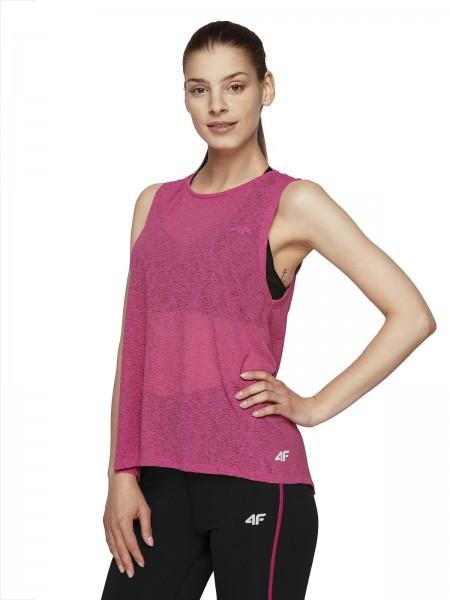 4F Damen Funktions-T-Shirt Fea Hot Pink