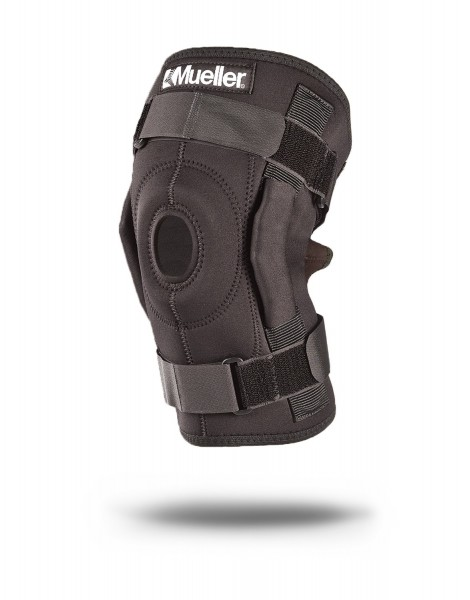 Wickel-Kniebandage mit Gelenk schwarz