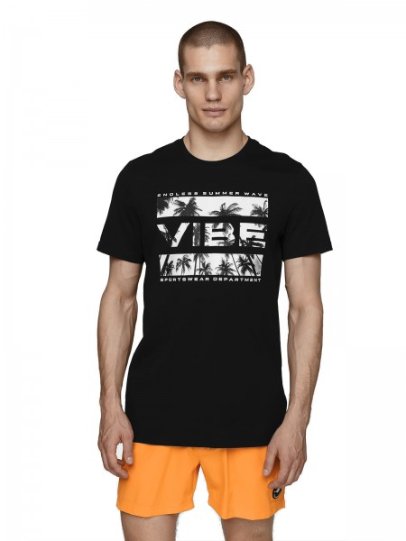 4F Herren T-Shirt Birger Deep Black