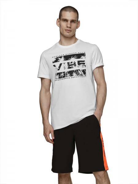 4F Herren T-Shirt Birger White
