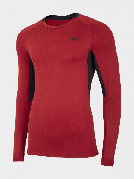 4F Herren Langarmfunktionsshirt Trond Red Melange