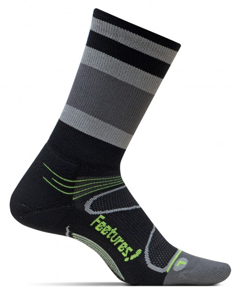 Feetures Elite Light Cushion Mini Crew black/reflector Stripe