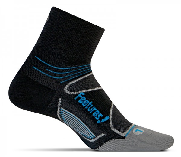 Feetures Elite Ultra Light Quarter black/brilliant blue