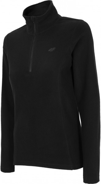 4F Damen Fleece Funktions Shirt Felice Deep Black