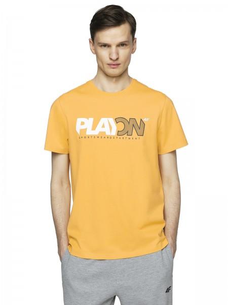 4F Herren T-Shirt Sebald Light Lemon