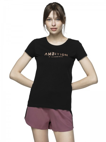 4F Damen T-Shirt Severina Deep Black