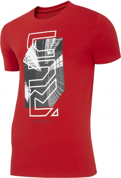 4F Herren T-Shirt Florian Red Melange