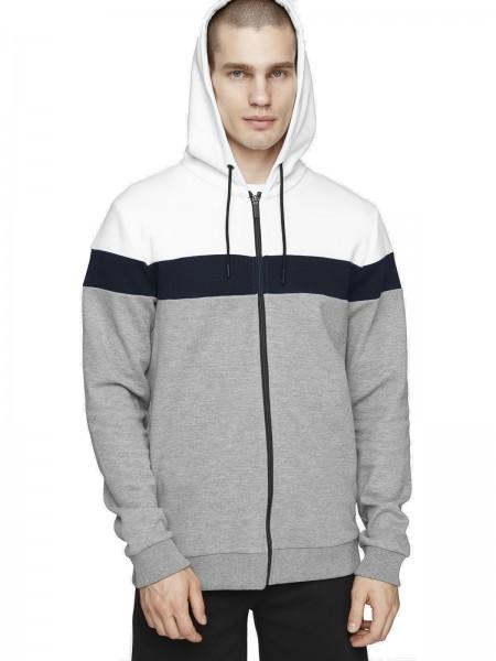 4F Herren Sweatshirt Stefano Grey Melange