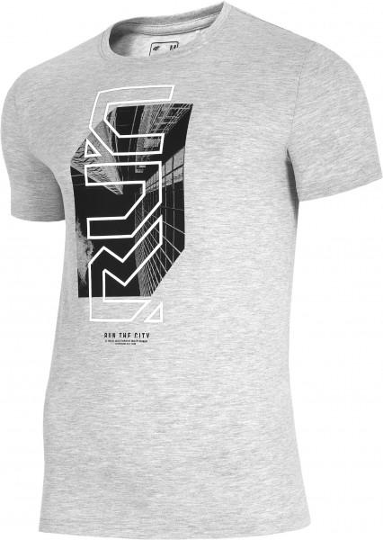 4F Herren T-Shirt Florian Cold Light Grey Melange