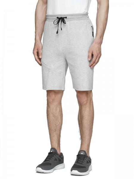 4F Herren Shorts Shayan Cold Light Grey Melange