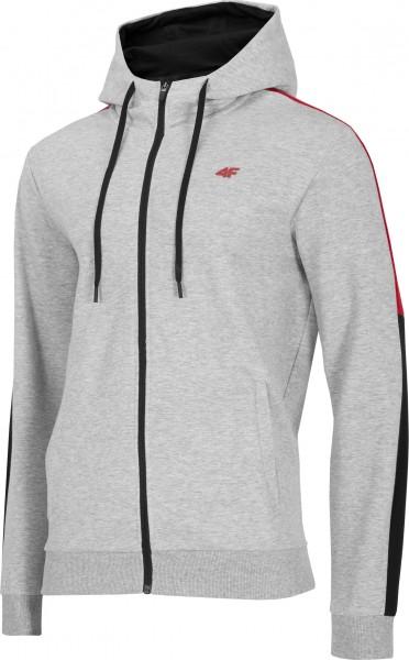 4F Herren Sweatshirt Felipe Cold Light Grey Melange