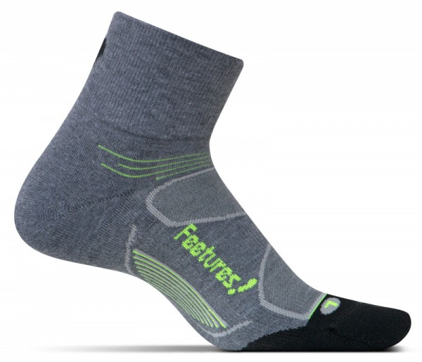 Feetures Elite Max Cushion Quarter heather grey/reflector