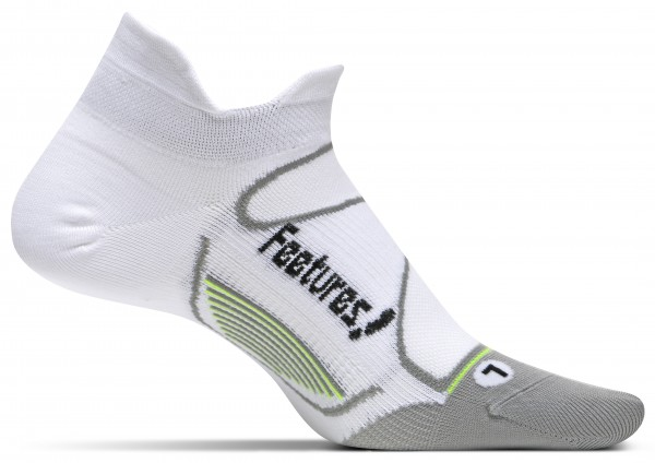 Feetures Elite UltraLightCushion - No Show Tab white/black