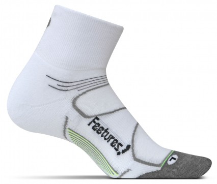 Feetures Elite Max Cushion Quarter white/black