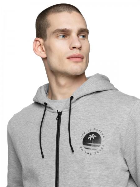 Outhorn Herren Sweatshirt BLM611 Warm Light Grey Melange