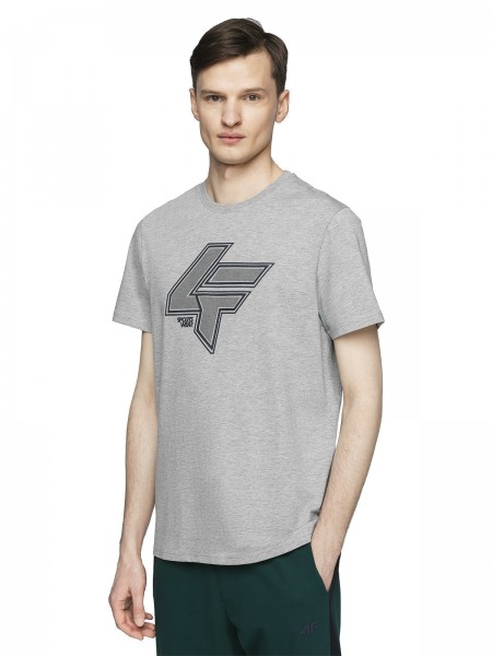 4F Herren T-Shirt Sean Grey Melange