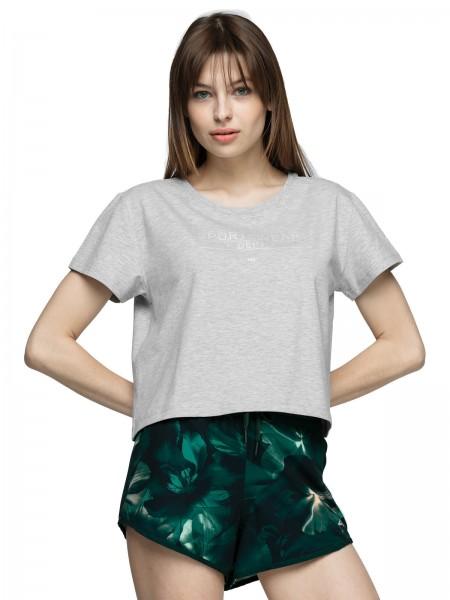 4F Damen T-Shirt Sharon Cold Light Grey Melange