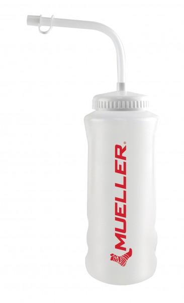 Mueller Trinkflasche Natur mit Trinkhalm