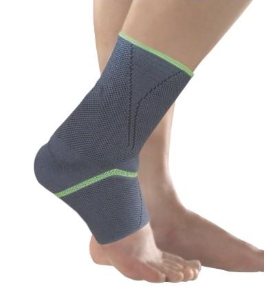Silikon Fußgelenkbandage grau