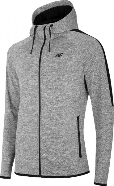 4F Herren Funktionssweatshirt Tatius Cold Light Grey Melange